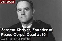 Sargent Shriver, Founder of Peace Corps, Dead at 95