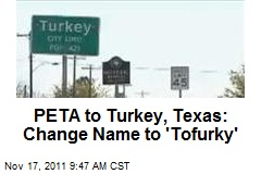 PETA to Turkey, Texas: Change Name to 'Tofurky'