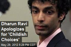 Dharun Ravi Apologizes for 'Childish Choices'