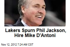 Lakers Spurn Phil Jackson, Hire Mike D'Antoni