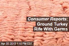 Consumer Reports : Ground Turkey Rife With Germs