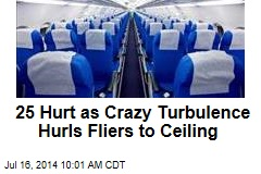 25 Hurt as Crazy Turbulence Hurls Fliers to Ceiling