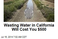 Wasting Water in California Will Cost You $500