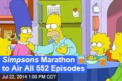 Simpsons Marathon to Air All 552 Episodes
