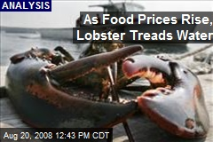 As Food Prices Rise, Lobster Treads Water