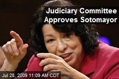 Judiciary Committee Approves Sotomayor